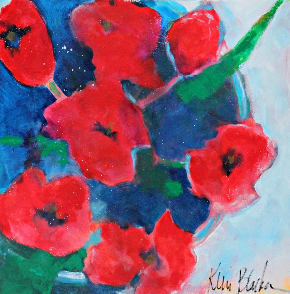 """Bowl of Poppies "" original fine art by Kerri Blackman"
