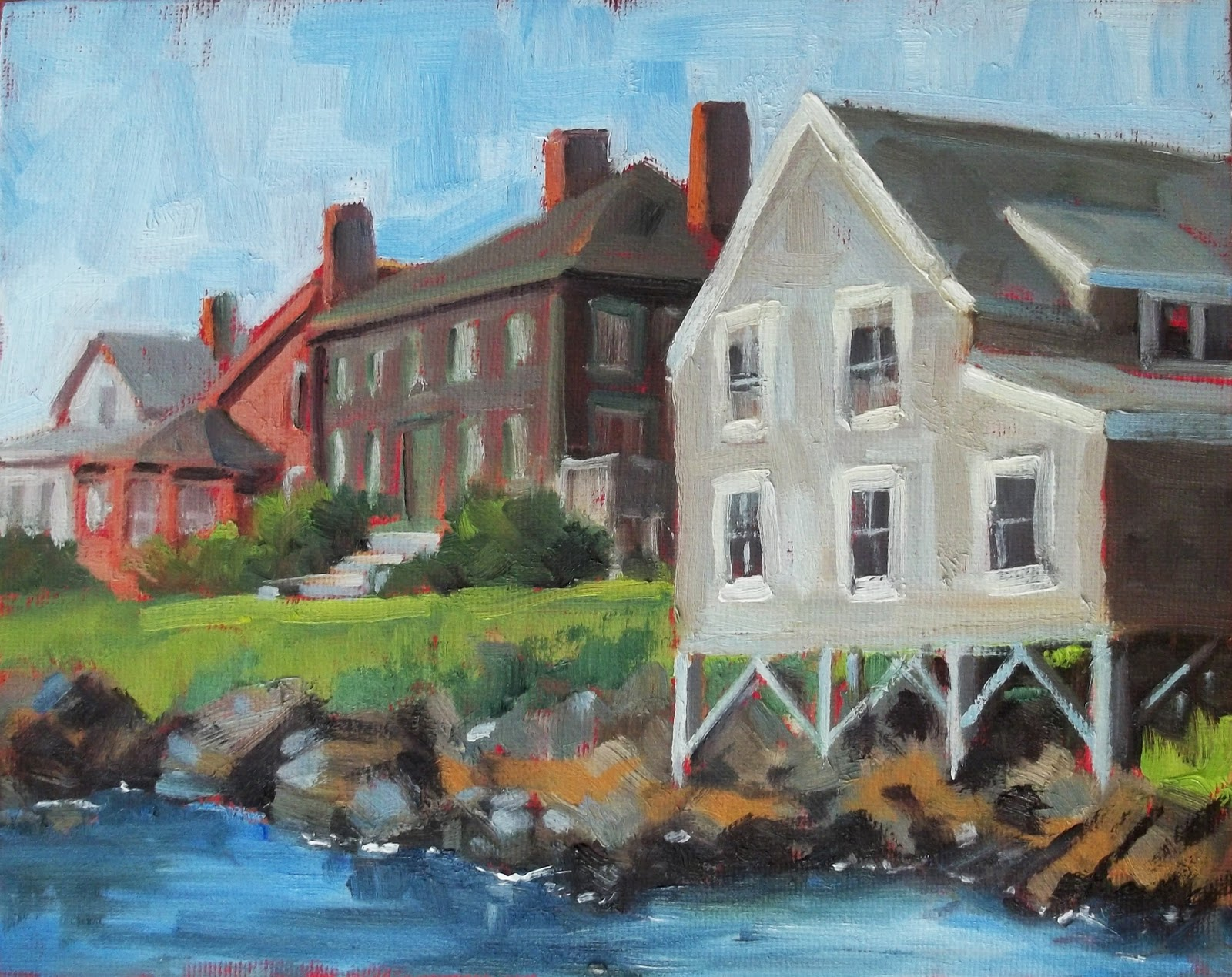 """Monhegan Living"" original fine art by Deborah Newman"
