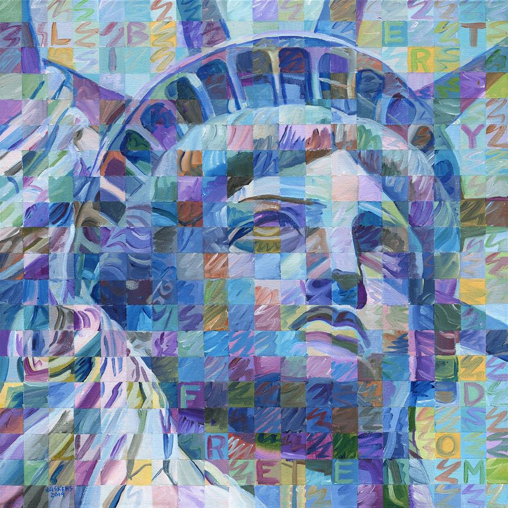 """Lady Liberty #3"" original fine art by Randal Huiskens"