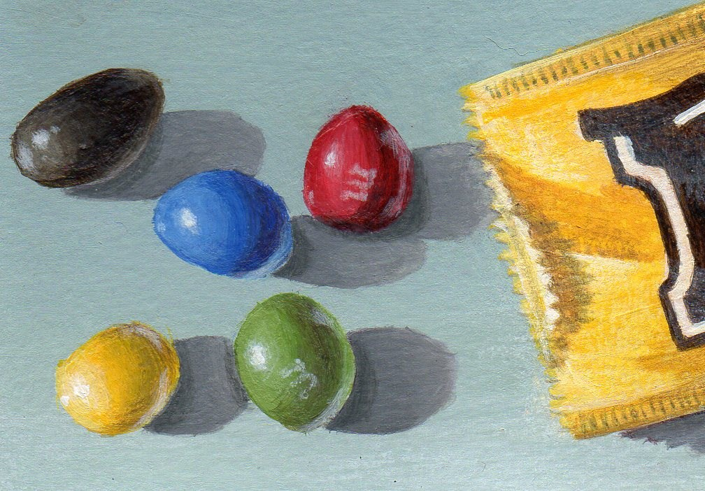 """Plain or Peanut?"" original fine art by Debbie Shirley"