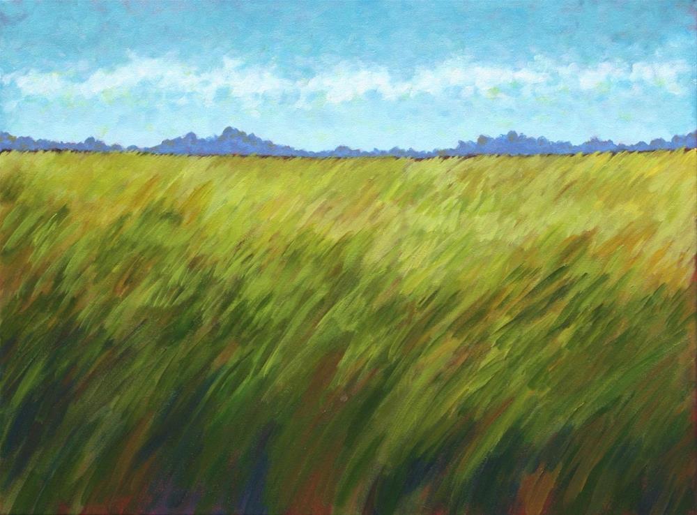 """Summer Meadow"" original fine art by Sage Mountain"
