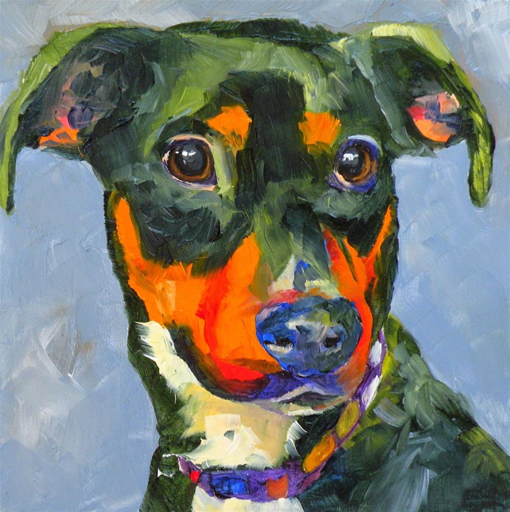 """HAWKEYE 46/100 OF 100 PET PORTRAITS IN 100 DAYS ©  SAUNDRA LANE GALLOWAY"" original fine art by Saundra Lane Galloway"
