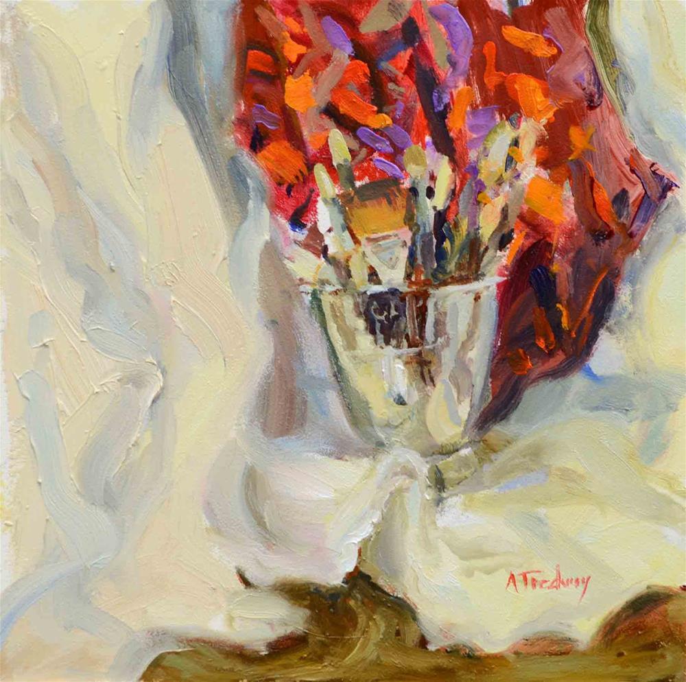 """""""Bucket of Brushes"""" original fine art by alicia tredway"""