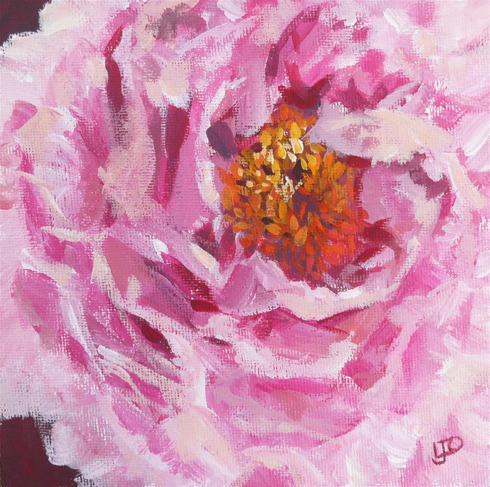 """""""Peony"""" original fine art by Leanne Owen"""