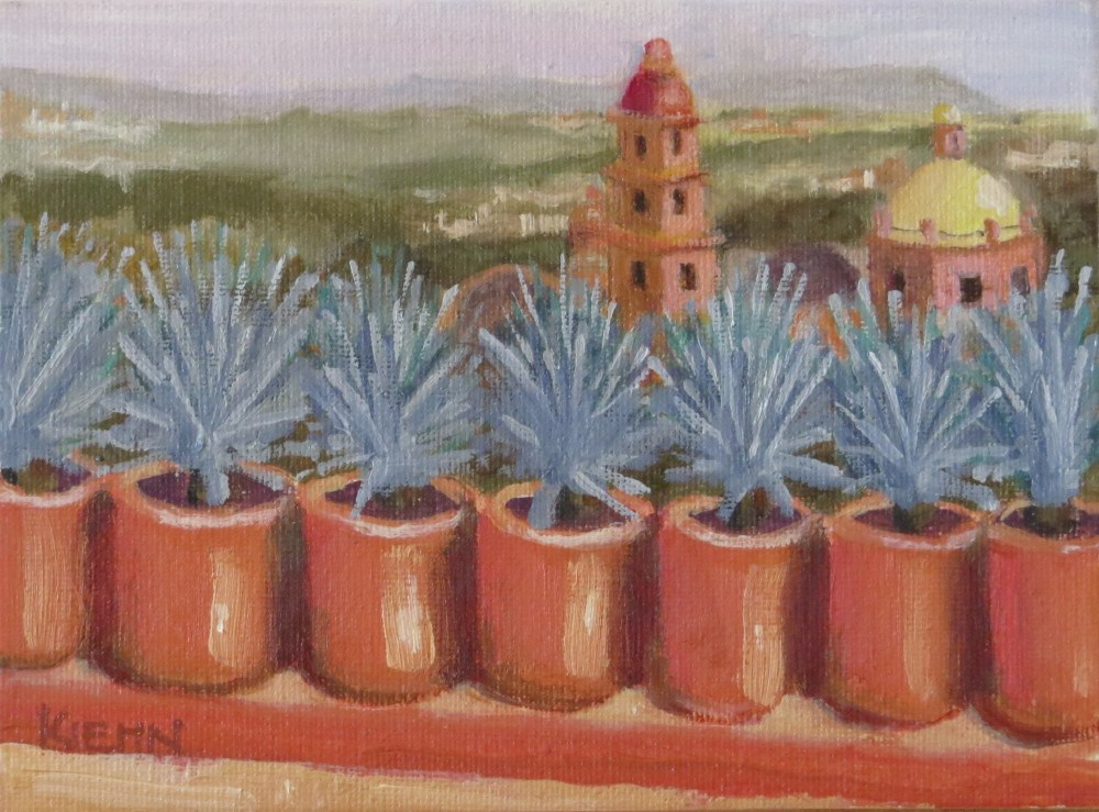 """View from Roof Terrace"" original fine art by Richard Kiehn"