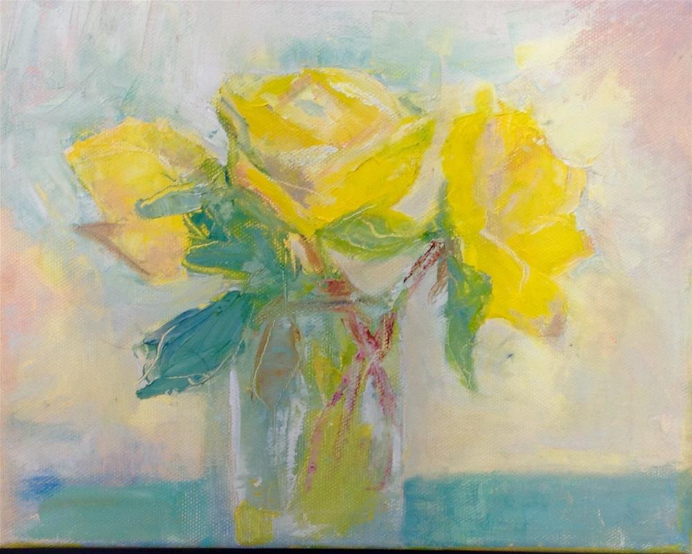 """Yellow Roses"" original fine art by Karen Pinard"