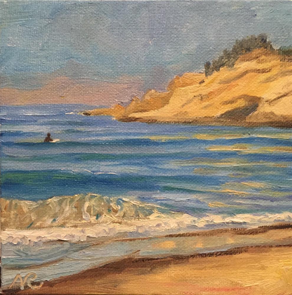 """Pacific City beach"" original fine art by Natasha Ramras"