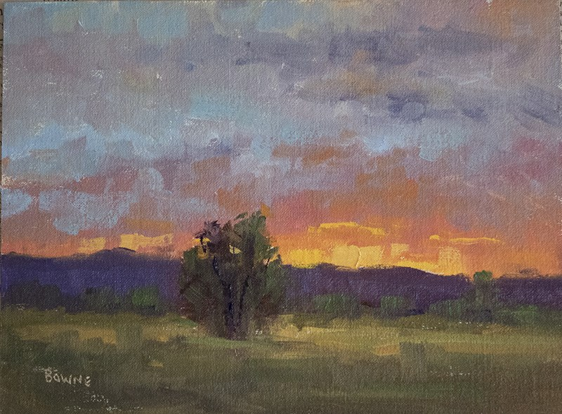 """Sunset at Fossil Creek"" original fine art by Bonnie Bowne"