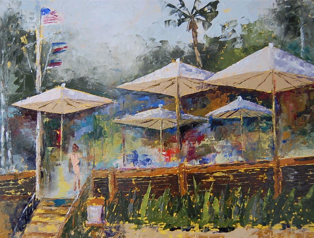 """Crystal Cove Beachcomber Restaurant"" original fine art by Deborah Harold"
