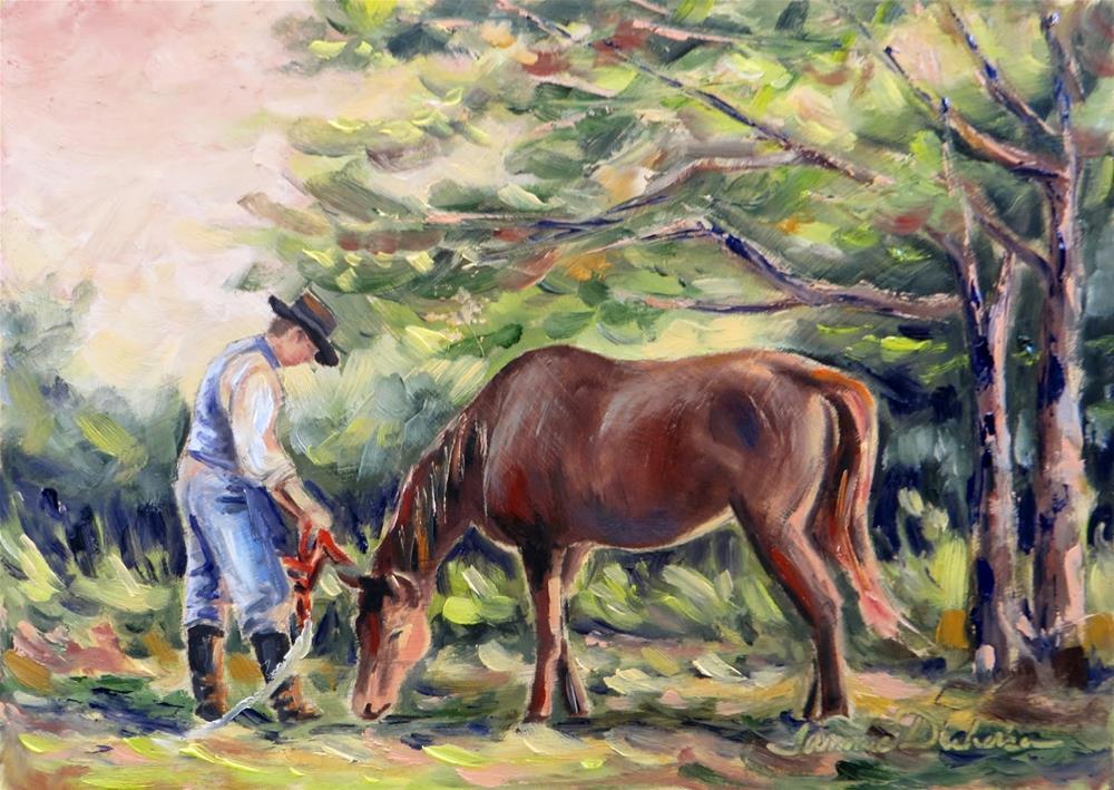 """Halter Me Not"" original fine art by Tammie Dickerson"