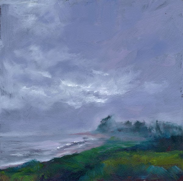 """Fog Bank"" original fine art by Brenda Ferguson"