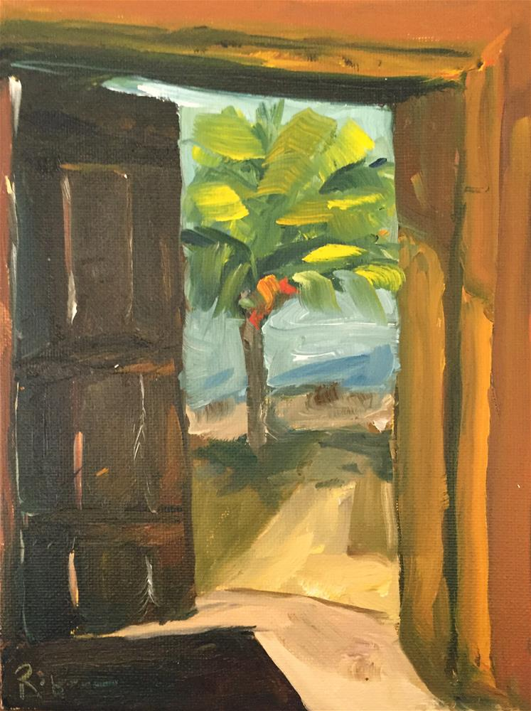 """Door to Paradise"" original fine art by Renee Robison"