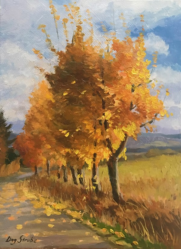 """The Golden Season - 2"" original fine art by Ling Strube"
