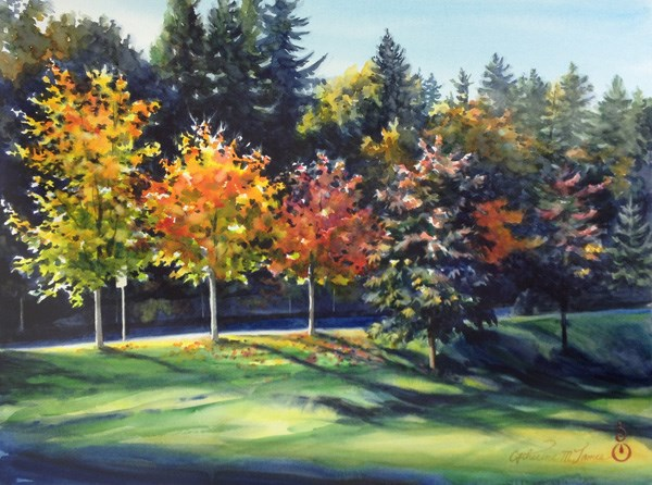 """Autumn Light"" original fine art by Catherine M. James"