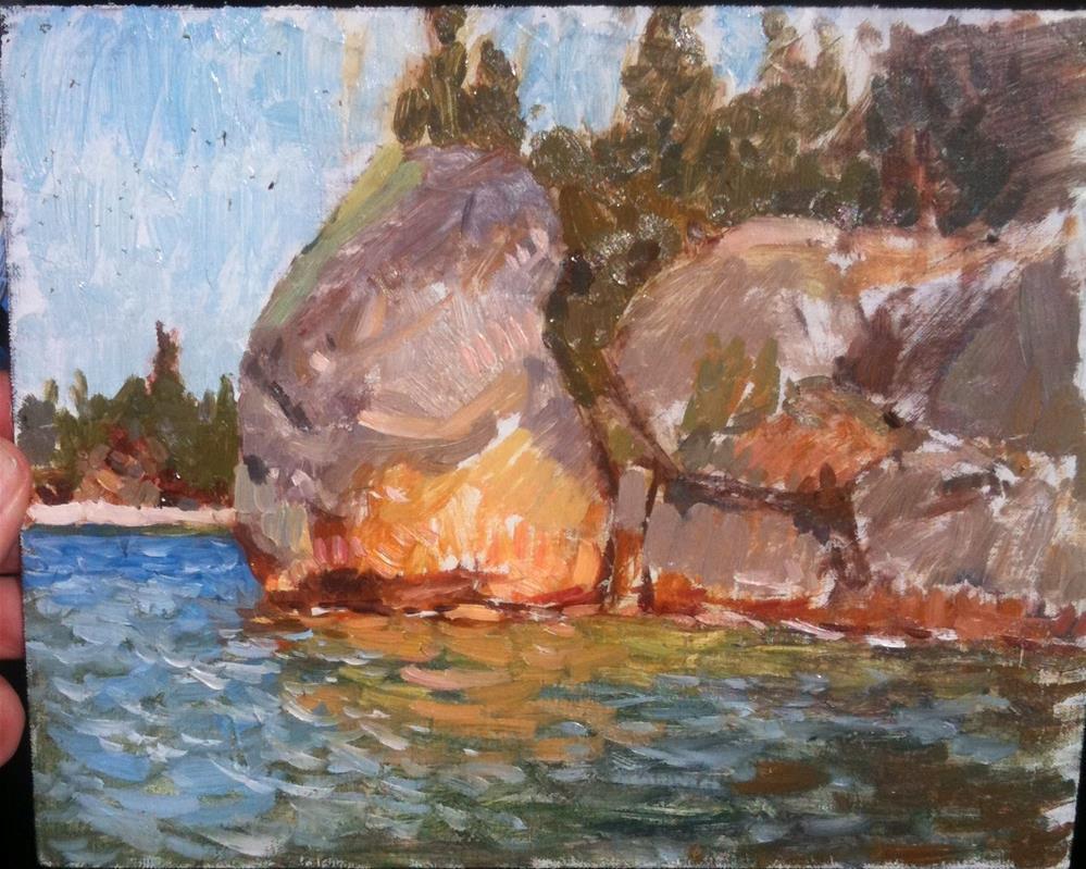 """Lake coeur dalene, tubbs hill"" original fine art by Nathan Sowa"