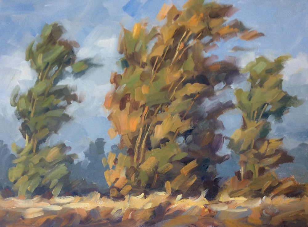 """WINDBLOWN"" original fine art by Tom Brown"