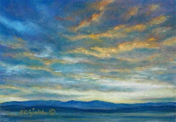 """Singing the Blues"" original fine art by Carol Zirkle"