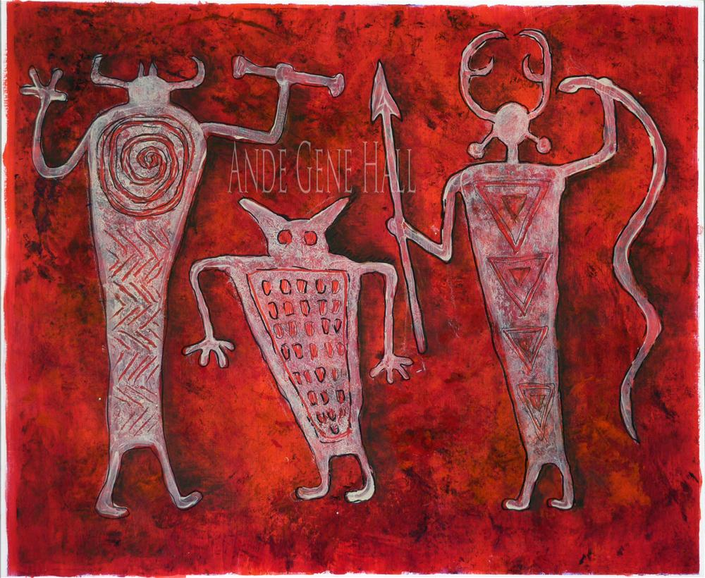 """Petroguys in Red"" original fine art by Ande Hall"
