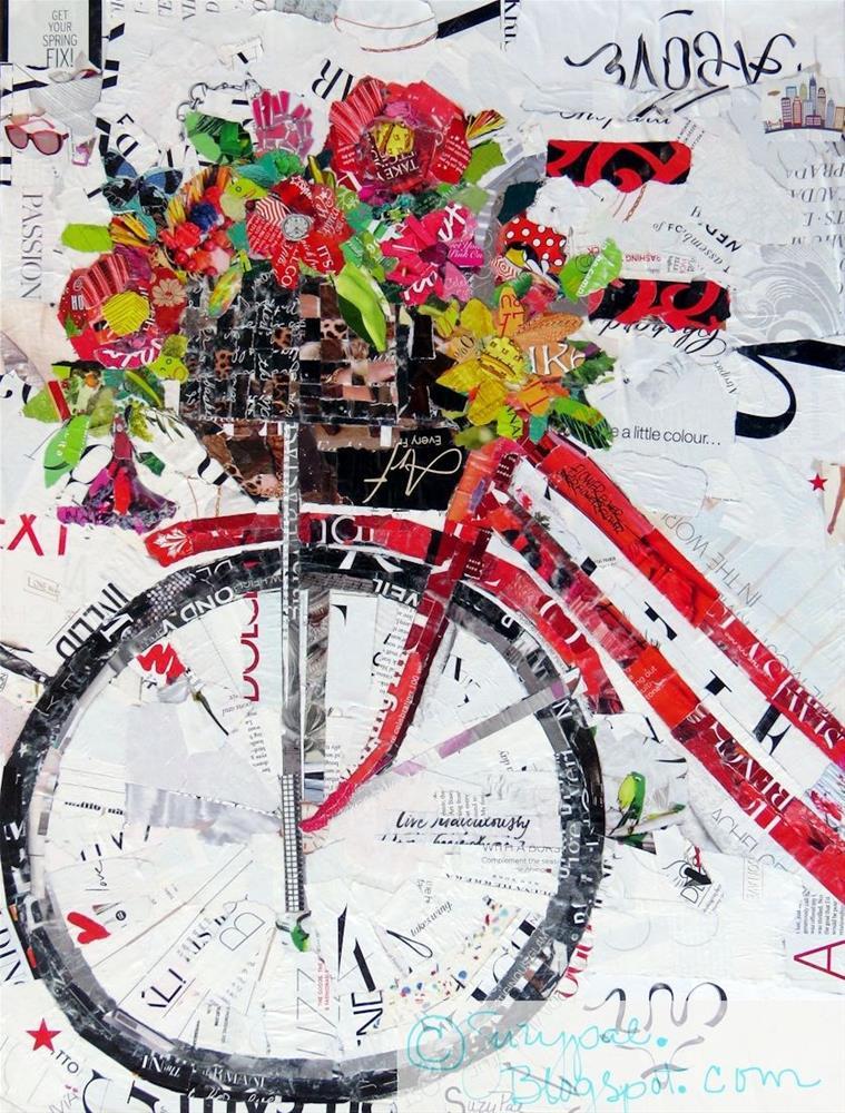 """Summer Time Bike"" original fine art by Suzy 'Pal' Powell"