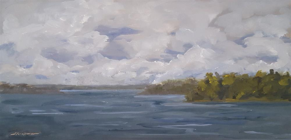 """Cloud Study, Smith Mountain Lake"" original fine art by Shelley Koopmann"