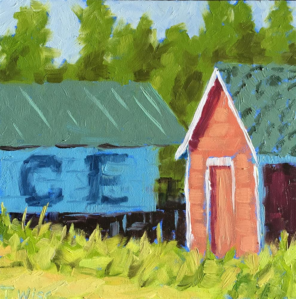 """Red Shack"" original fine art by Tracy Wise"