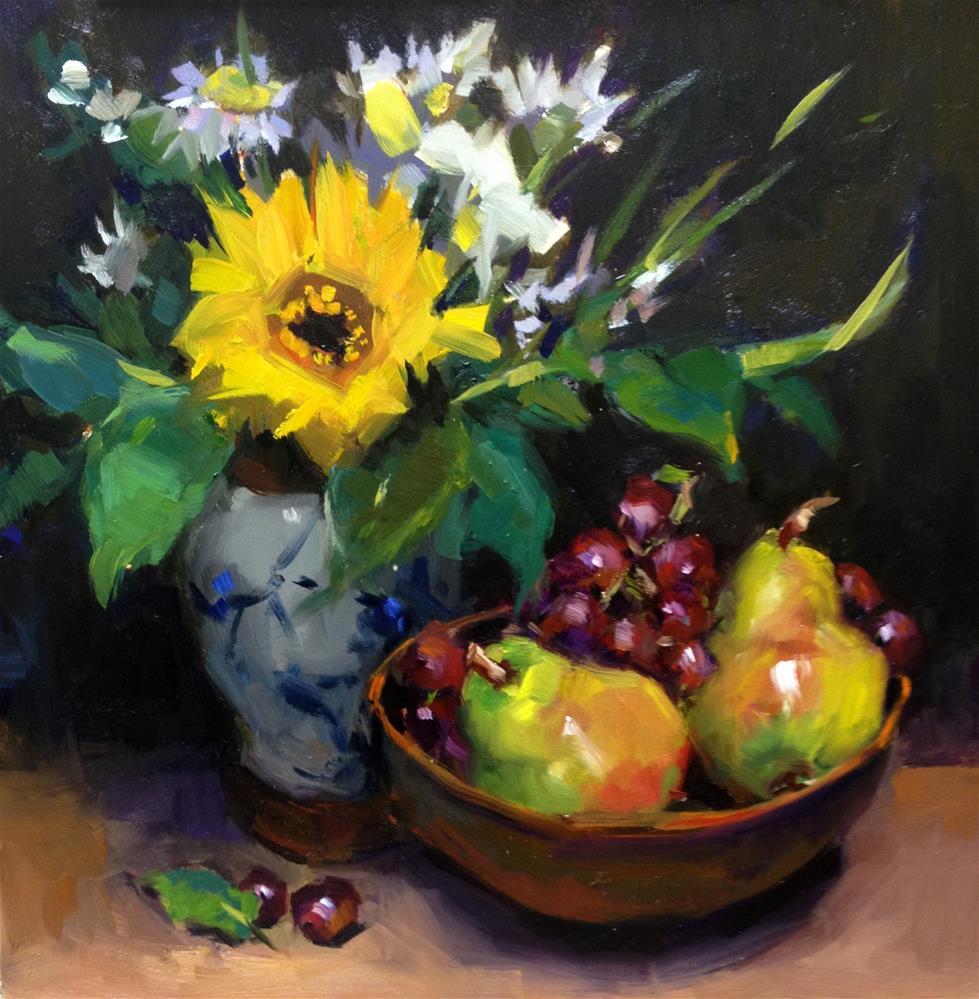"""Flea Market Treasures"" original fine art by Laurie Johnson Lepkowska"