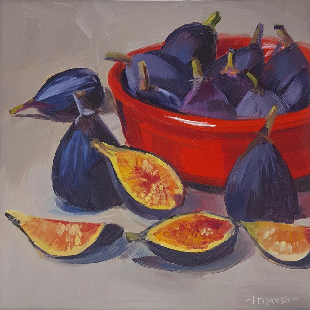 """Fig bowl"" original fine art by Jacqueline Davis"