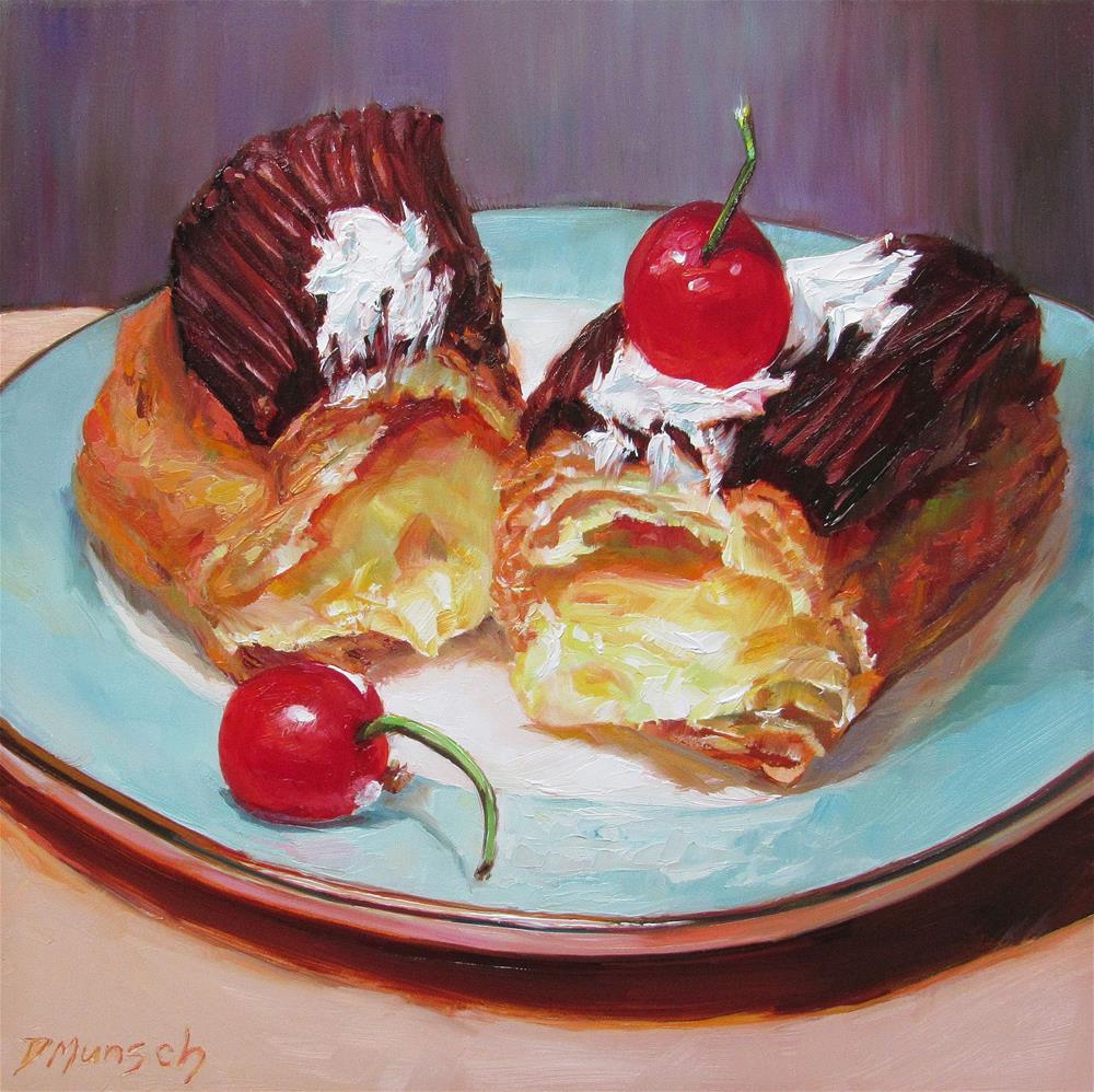 """""""Chopped Eclair"""" original fine art by Donna Munsch"""