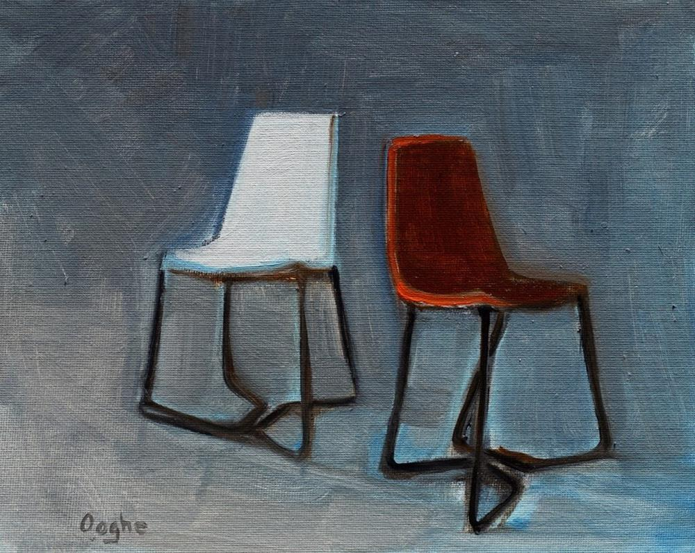 """Two Chairs"" original fine art by Angela Ooghe"