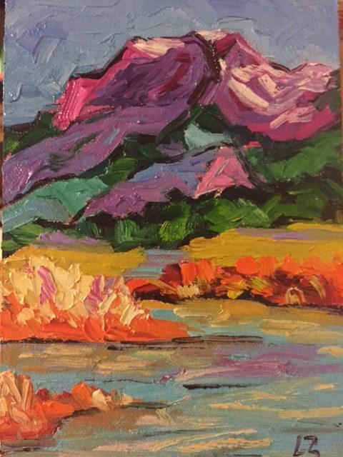 """""""Rocky Mountain Stream"""" original fine art by Liz Zornes"""