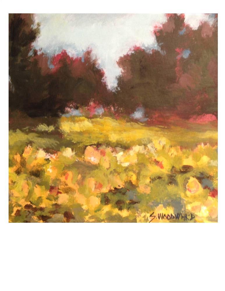 """""""Sunflower Field"""" original fine art by Suzanne Woodward"""