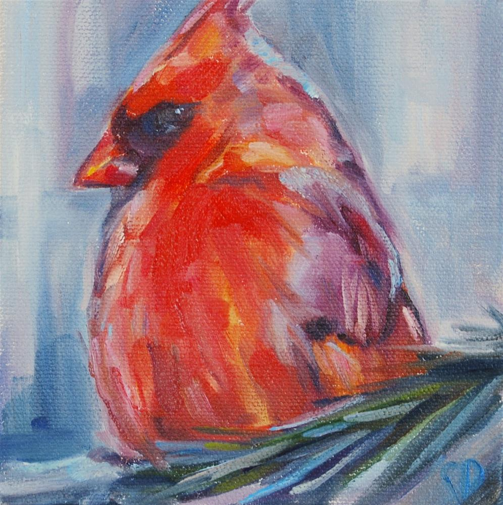 """Cardinal, Original oil by Carol DeMumbrum"" original fine art by Carol DeMumbrum"