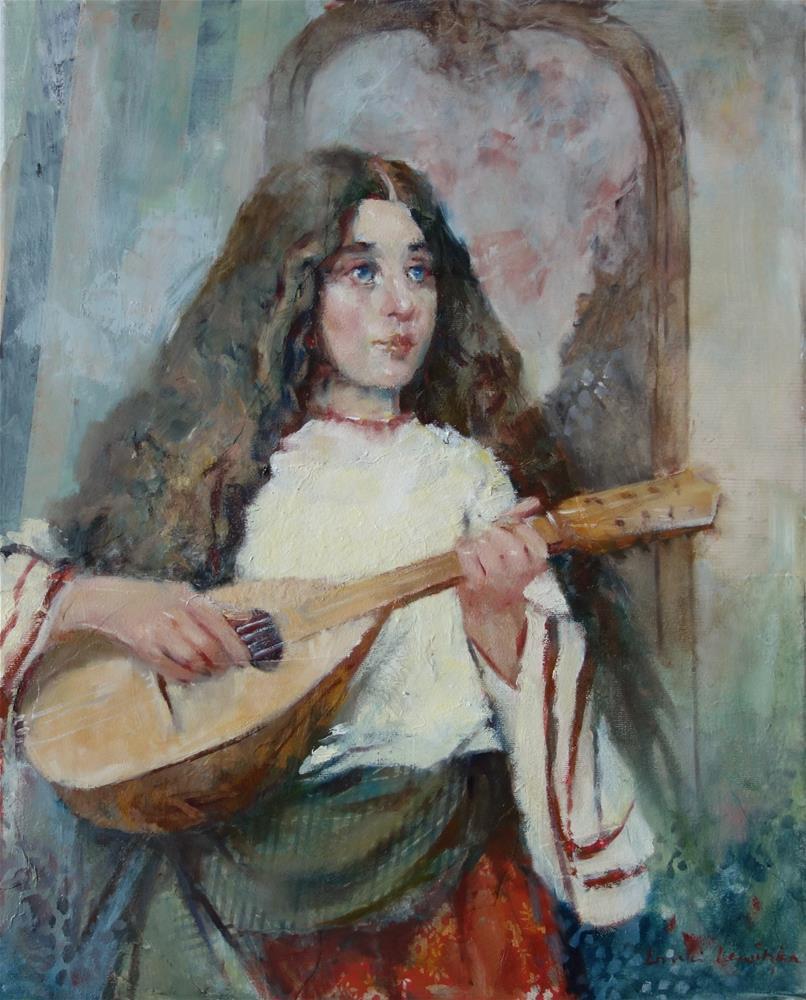 """Lute Girl"" original fine art by Lorraine Lewitzka"
