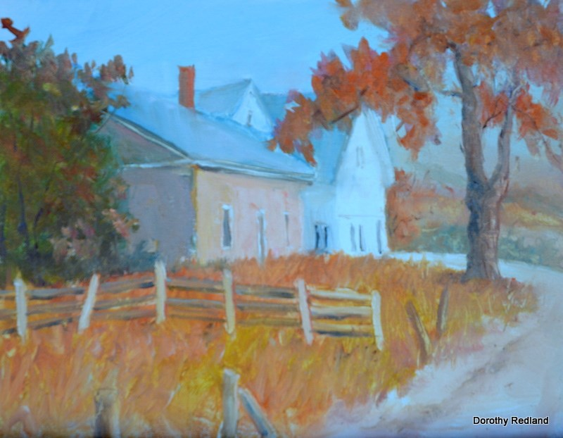 """October New England"" original fine art by Dorothy Redland"