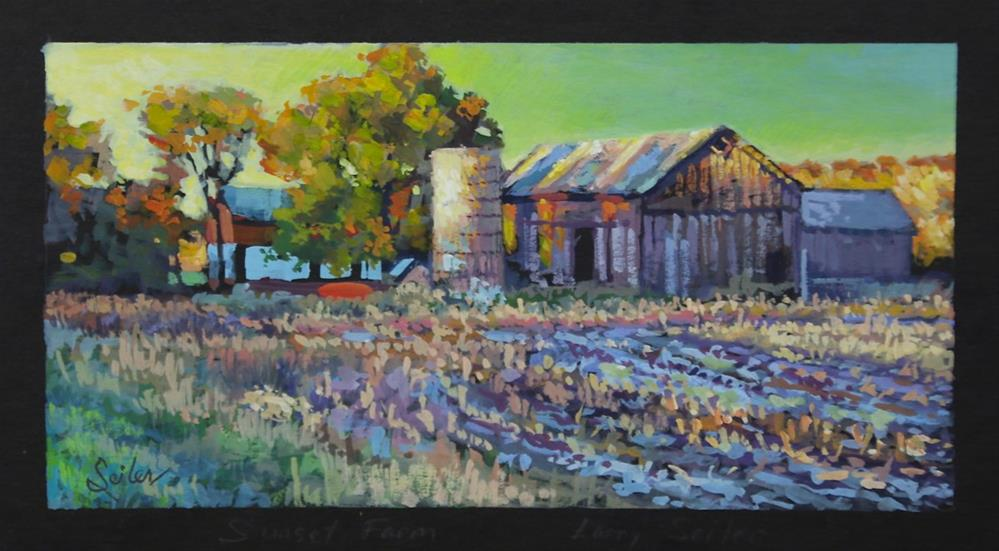 """Early Fall Farmlife"" original fine art by Larry Seiler"