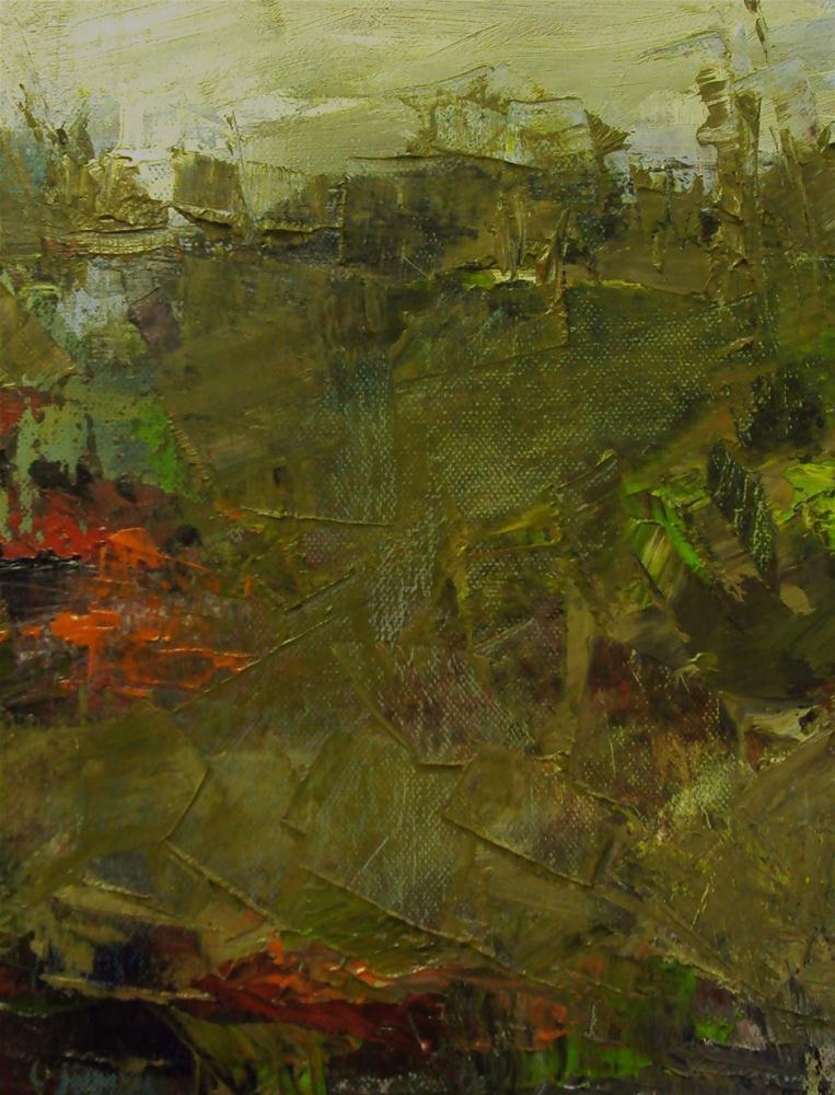 """on the way to the Stonehenge"" original fine art by Parastoo Ganjei"