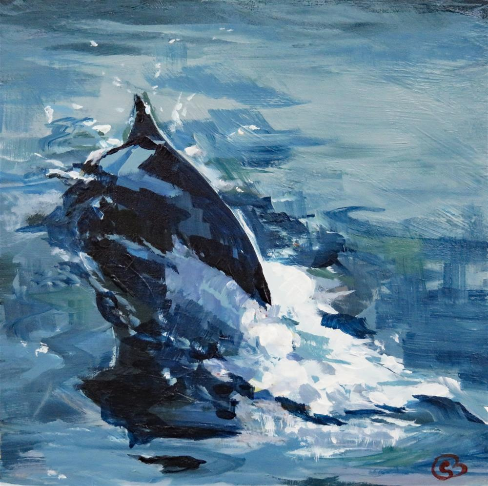 """Dolphin"" original fine art by Shari Buelt"