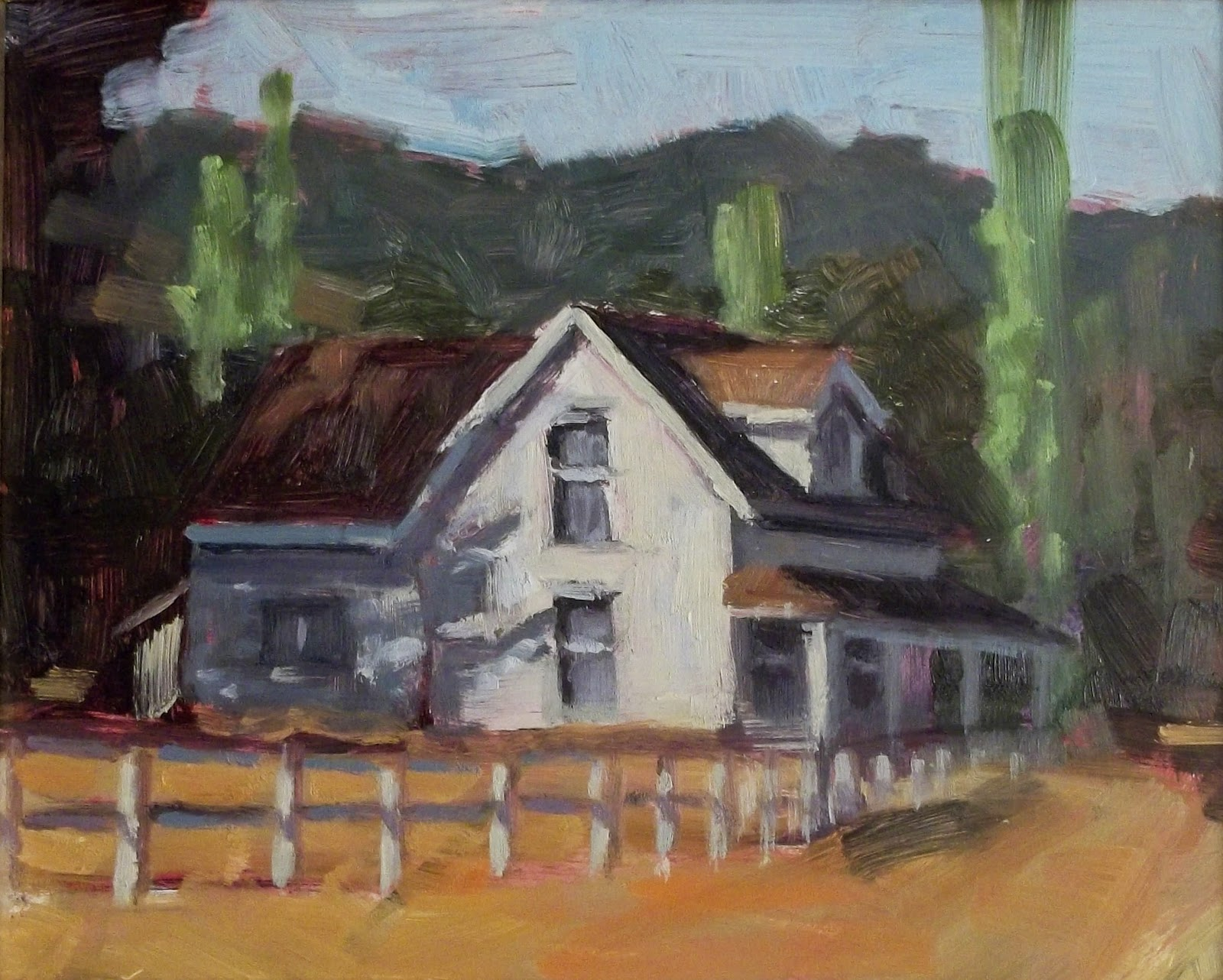 """The Old Farmstead"" original fine art by Deborah Newman"