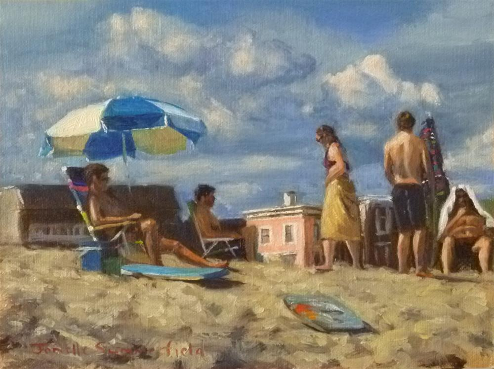"""Beach Gathering"" original fine art by Jonelle Summerfield"