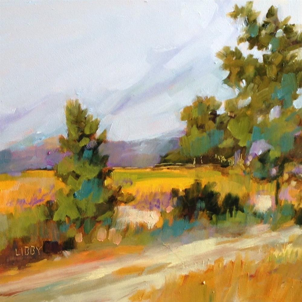 """Mountain Road"" original fine art by Libby Anderson"