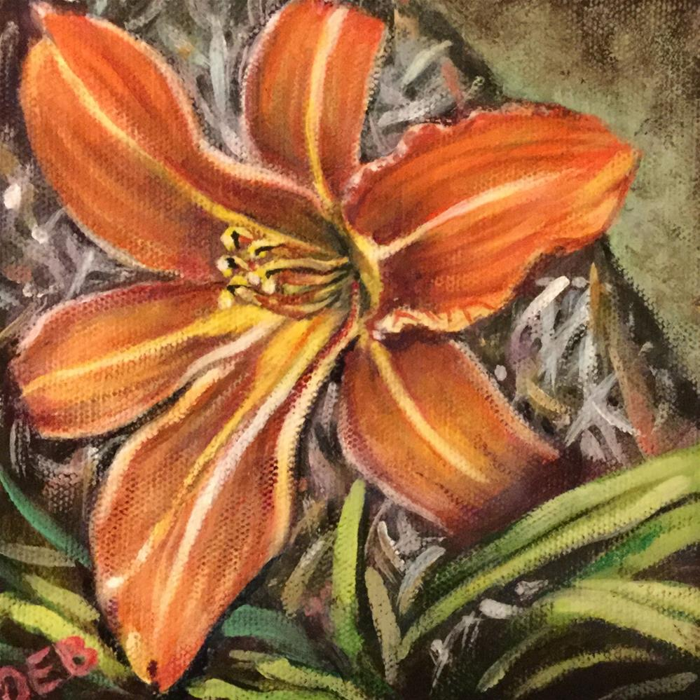 """Daylily of the Day"" original fine art by Debbie Yacenda"