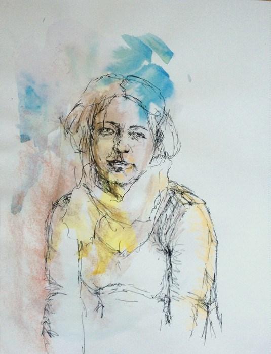 """Drawing #1-20"" original fine art by Katie Wilson"