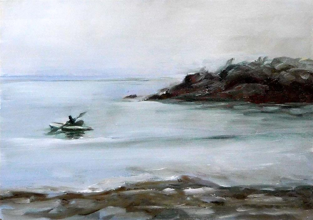 """Paddling Out"" original fine art by Cietha Wilson"