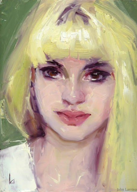 """Yellow Hair"" original fine art by John Larriva"