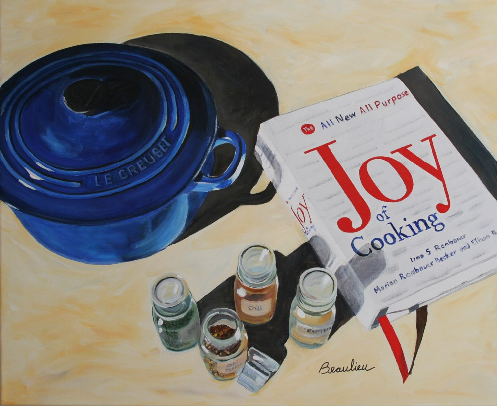 """Joy of Cooking"" original fine art by Andre Beaulieu"