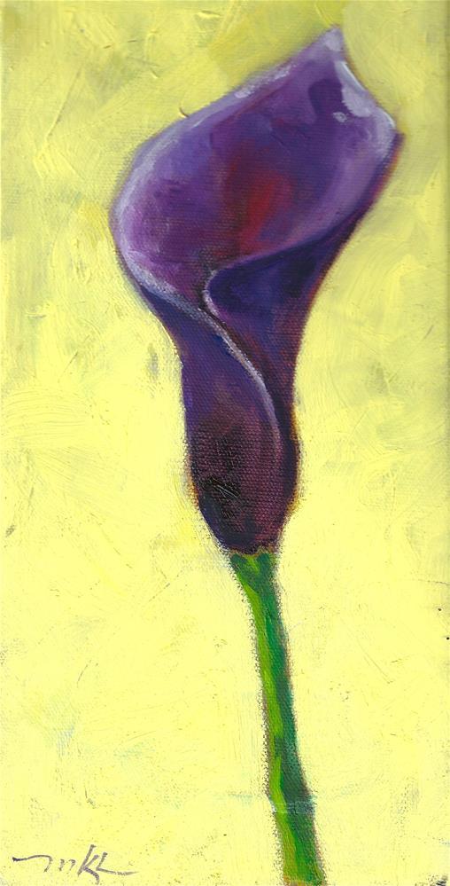 """Iris Study #1"" original fine art by Marlene Lee"