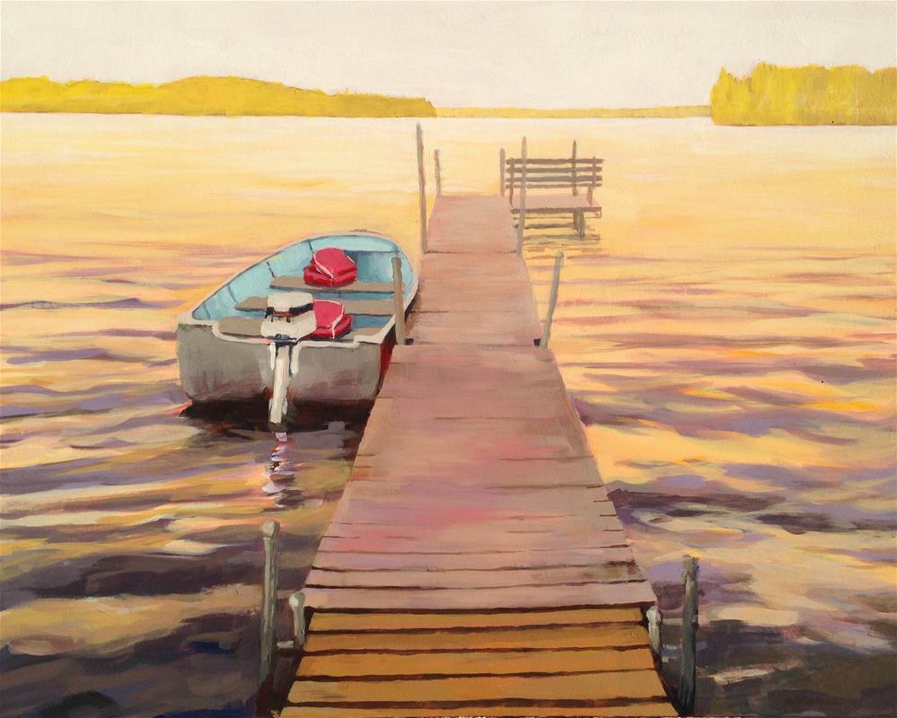 """Fishing Boat"" original fine art by Jim Musil"
