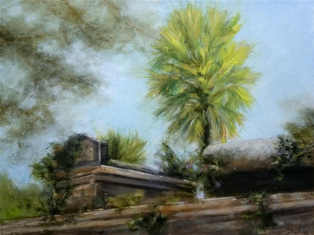 """Over The Cemetery Wall"" original fine art by Dalan Wells"