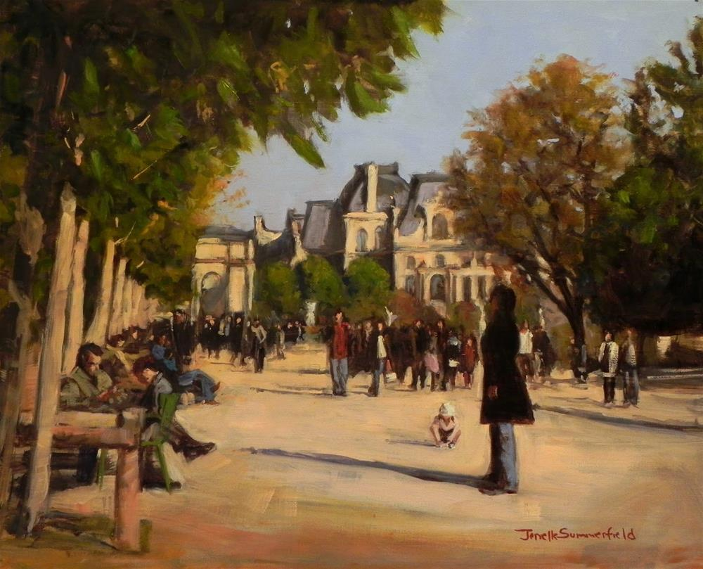 """Louvre Courtyard"" original fine art by Jonelle Summerfield"
