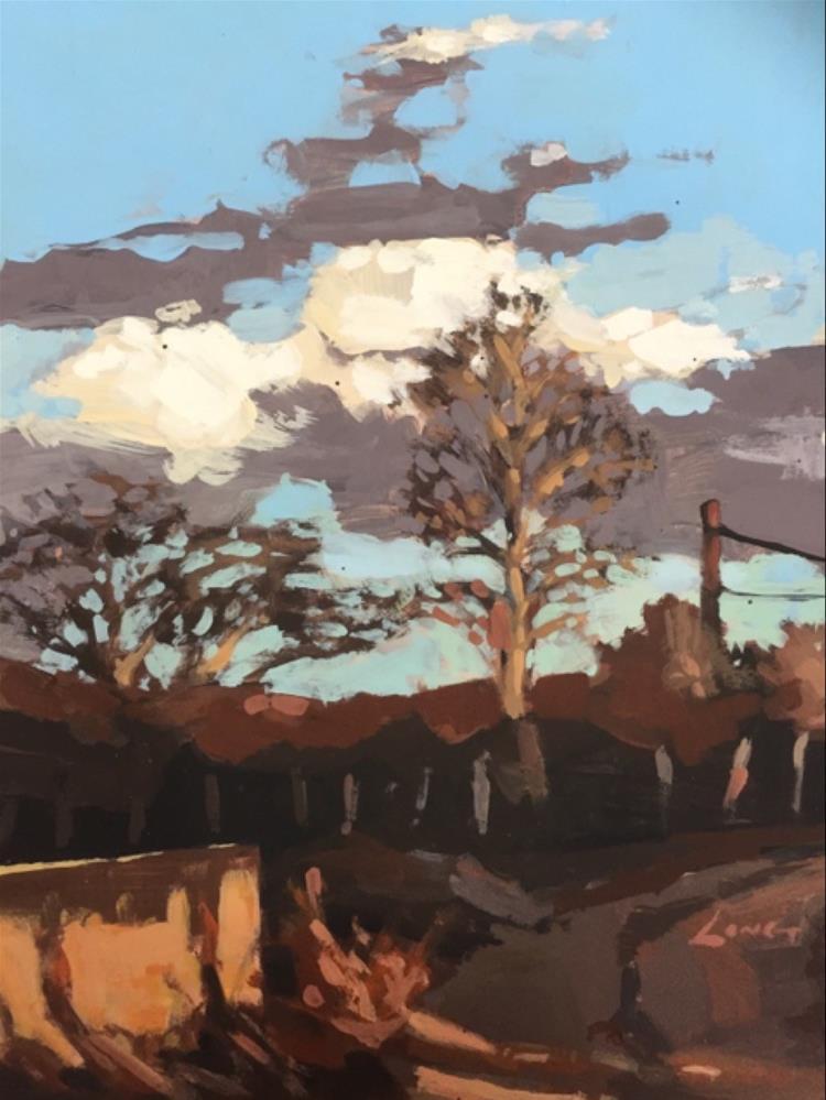 """""""New Mexico"""" original fine art by Chris Long"""